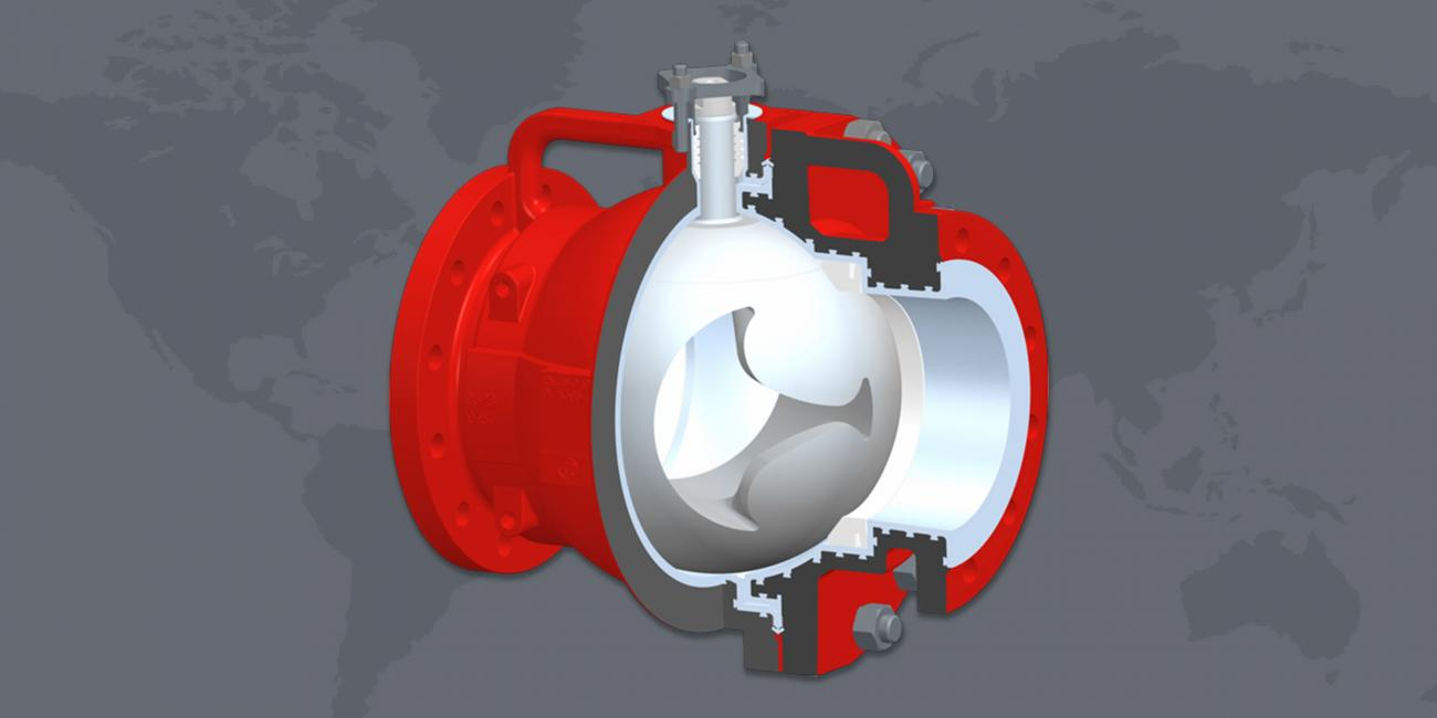 KNR 200 Largest PFA Lined Control Ball Valve in the World